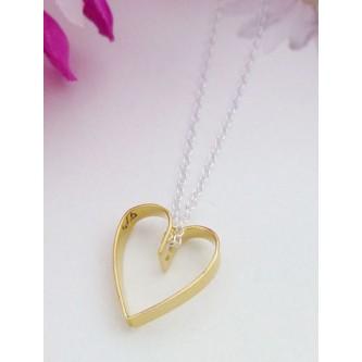 Tiffany Gold Heart Necklace