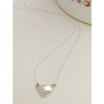 Victoria Silver Nugget Necklace