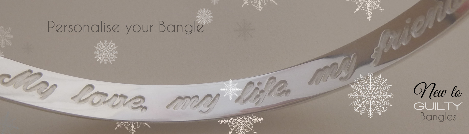 engraved silver bangles from Guilty