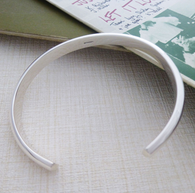 mens urban silver bangle