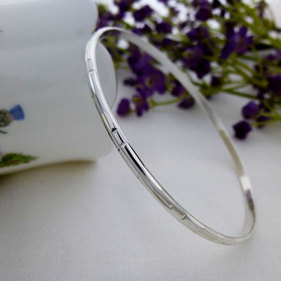 lily silver slave bangle