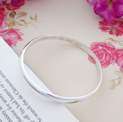 love of my life engraved ladies bangle