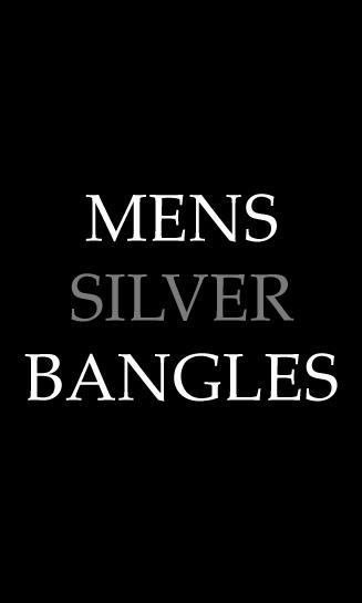 Mens Silver Bangles