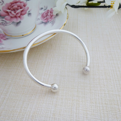 traditional handmade silver torque bangle