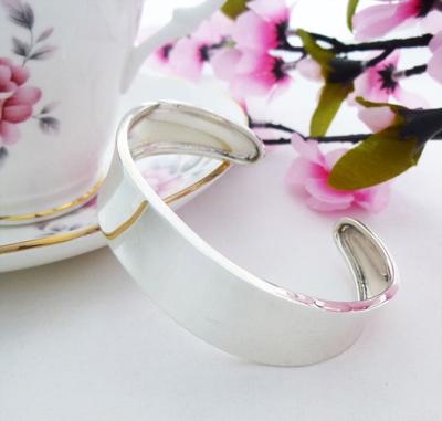 Zara ladies silver cuff bangle